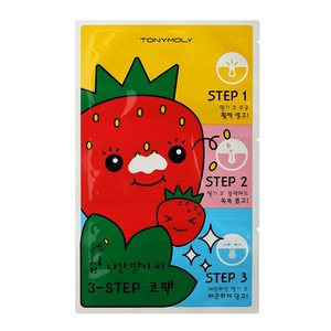 TONY MOLY RUNAWAY STRAWBERRY SEEDS 3 STEP NOSE PACK 6g